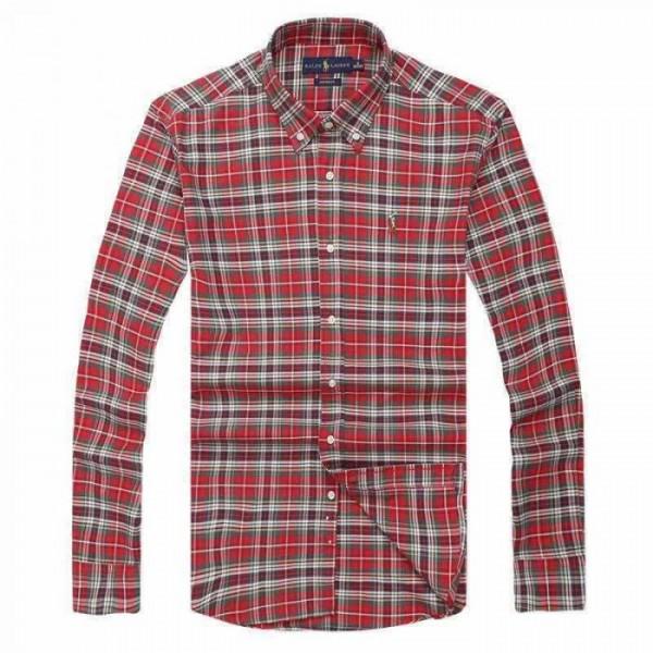 PR Lauren Plaid Shirts | Red & Grey