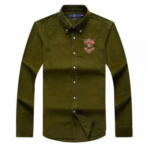 PRL Bleecker 381 Crested Logo Shirt | Green