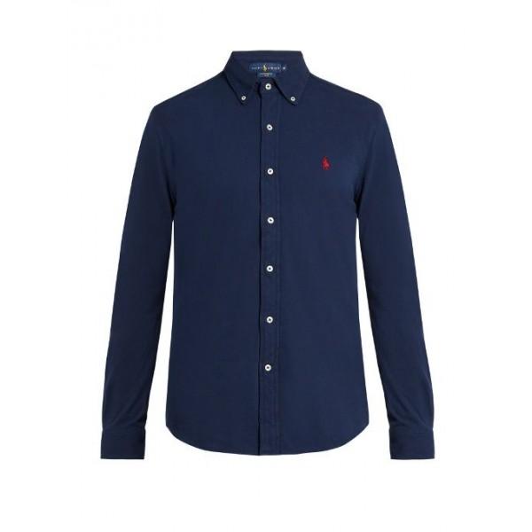 PR Lauren Small Pony Shirt | Navy Blue