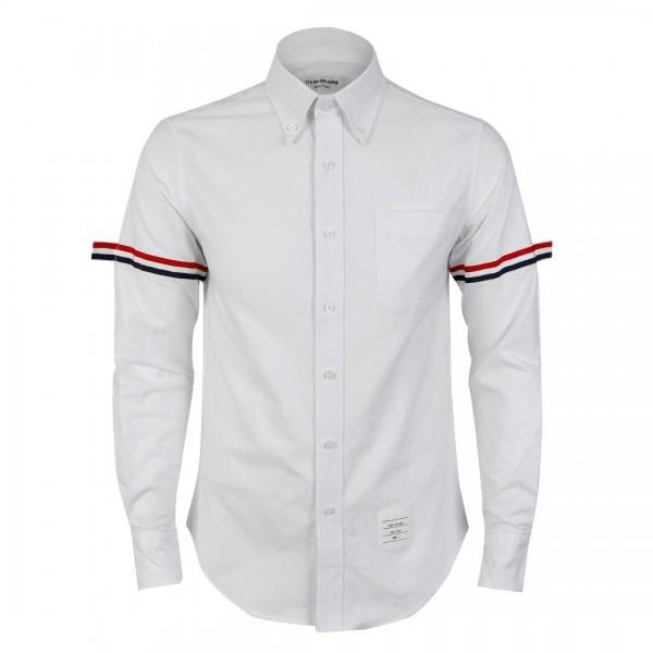 Thom Browne Arm,Stripe Oxford Shirt | White