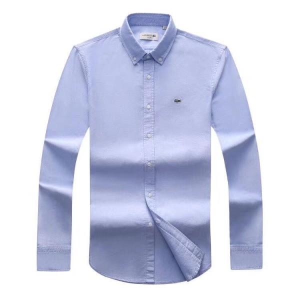 Lacoste Custom Fits Long sleeve Sky Blue Shirts