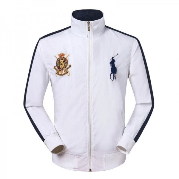 PR Lauren Big Pony LX3VII Crested Jackets | All Wh...