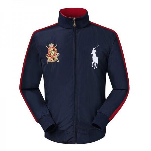 PR Lauren Big Pony LX3VII Crest Logo Jackets| Navy...