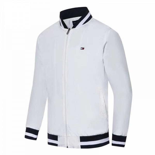 Tommy Hilfiger Jackets | White Navy Blue