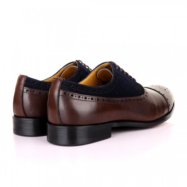 John Mendson Oxford Lace Up Shoe | Coffee Brown Leather and Brown Suede