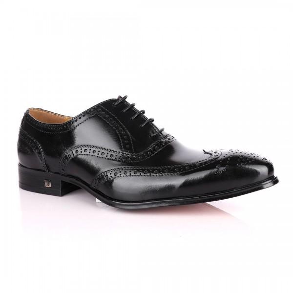 John Foster Oxford Brogues Shoe   Black