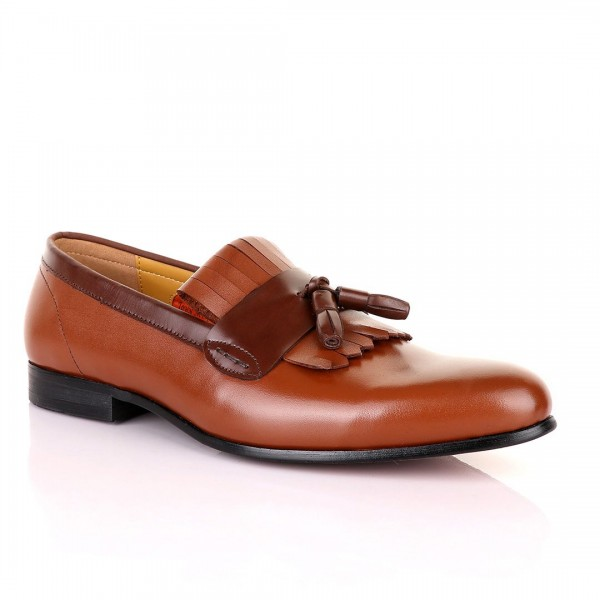 John Mendson Leather Tassel Shoe | Brown