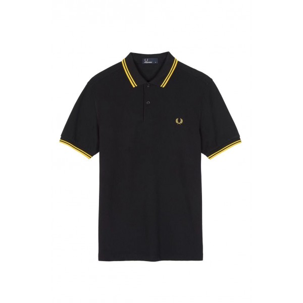 Fred Perry Gold Trim Polo | Black