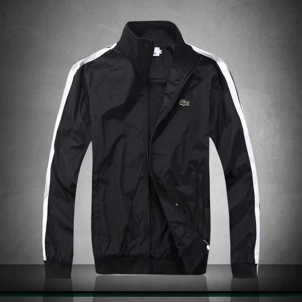 Lacoste Men's Lightweight Hand Striped Jacket- Bla...