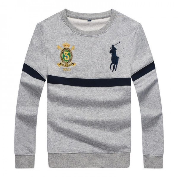 PRL Embroidered Logo Sweat Shirt- Ash