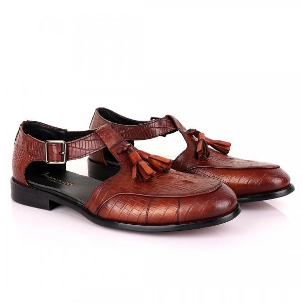 Billionaire with Tassel Cover Leather Sandal | Bro...