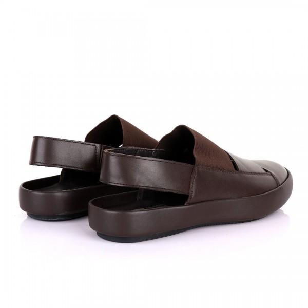 Salvatore Ferragamo Exquisite Leather Sandals | Coffee Brown
