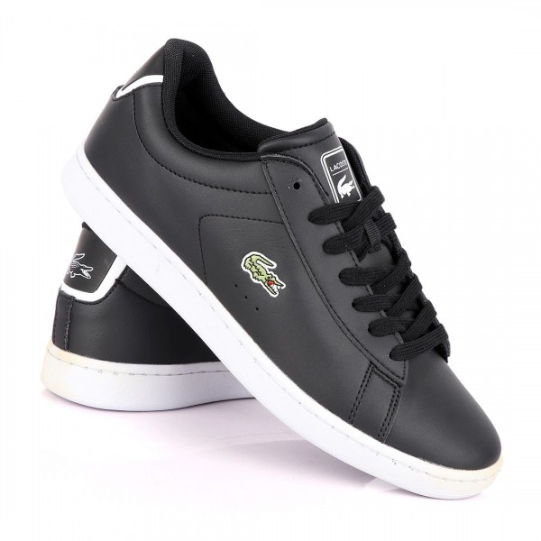 Lacoste Carnaby EVO Black Sneakers With White Sole