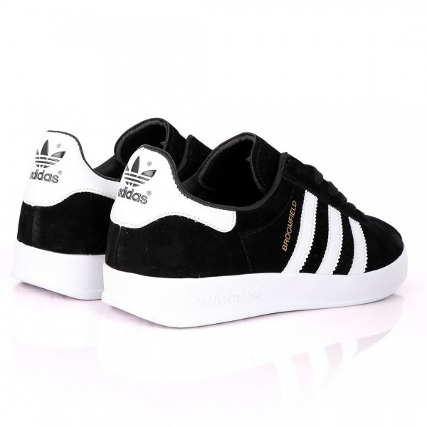 AD Originals BroomField Suede Sneakers With 3 White Stripes Black
