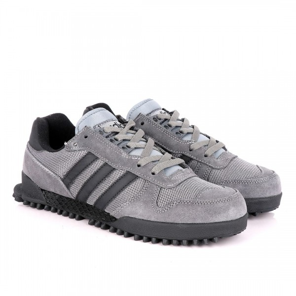 AD Simplified Classic Designed Grey Suede Sneakers
