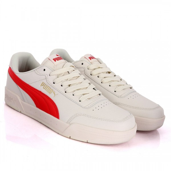 Puma Optimal Comfort Off-White And Red Leather Sne...