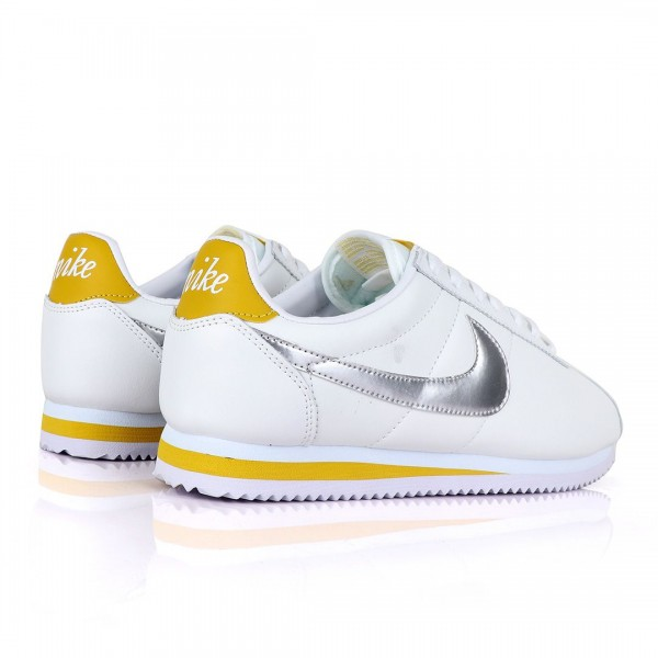 Nike Cortez Classic Sneakers | White and yellow
