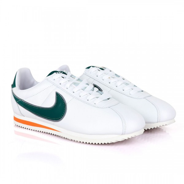 Nike Cortez Hawkins White and Green Sneakers