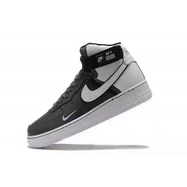 NAF 1 Mid Hightops Sneakers | Black and White