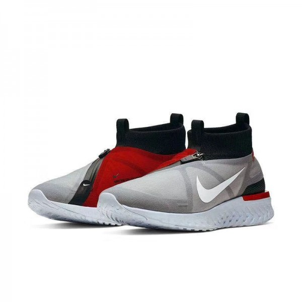 Nk React Run Utility Sneakers | Grey and Red