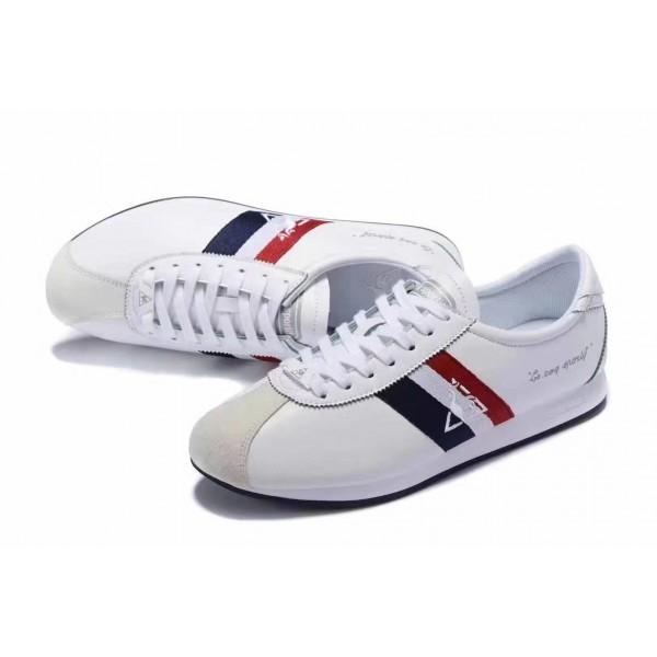 Le Coq Sportif blue Red Striped Sneakers | White