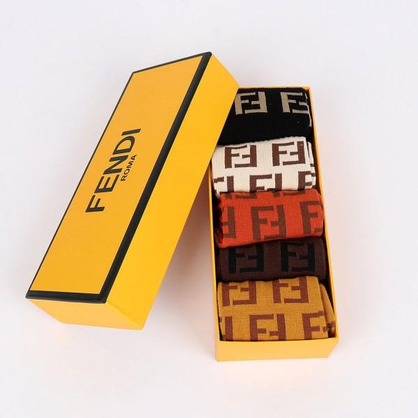 Fendi Roma Logo Designed Men's Socks