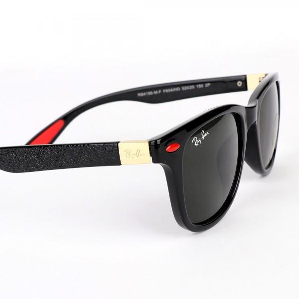 Ray-Ban Uv Protection Shinning Black/Red Sunglasse...