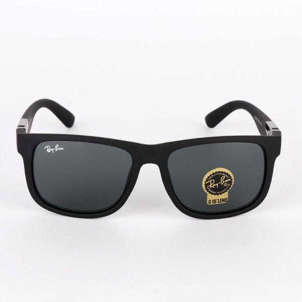 Ray-Ban Wayfarer Side Silver Crested Black Sunglasses