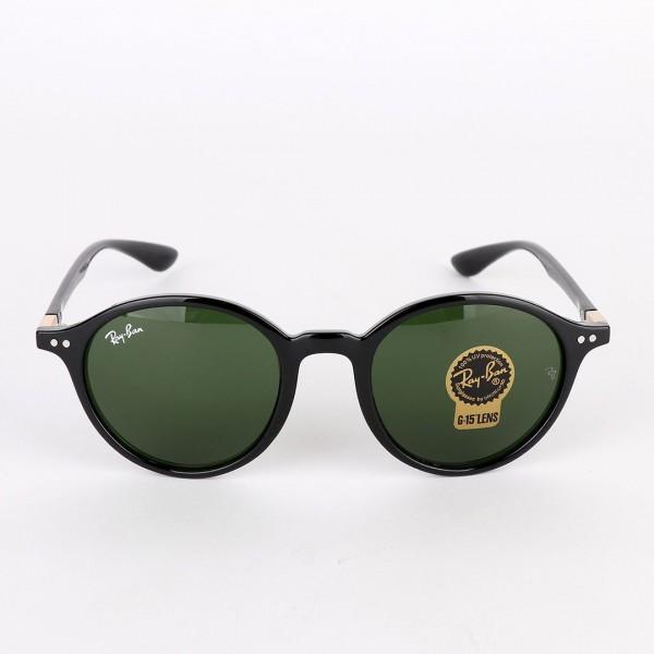 Ray-Ban Wayfarer Round-frame acetate Black sunglasses