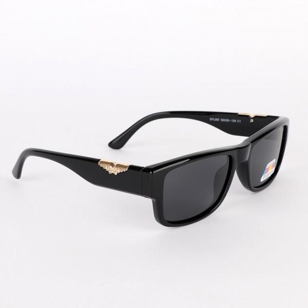 Police Polarized Gold Metal Black Sunglasses