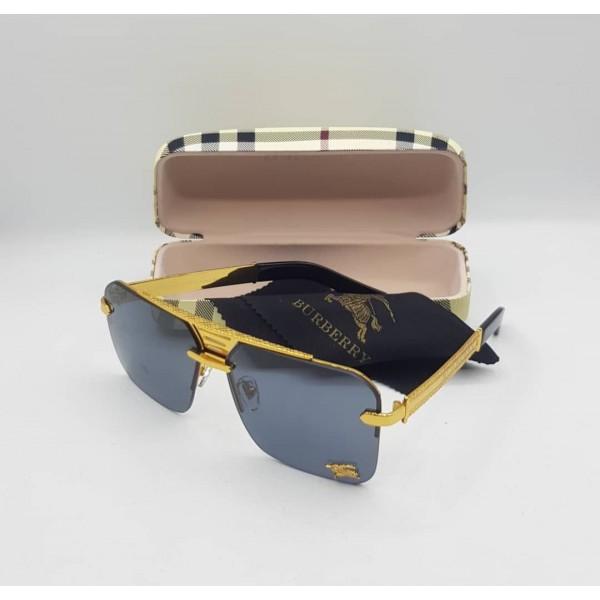 Burberry Black Gold Frame Sunglasses