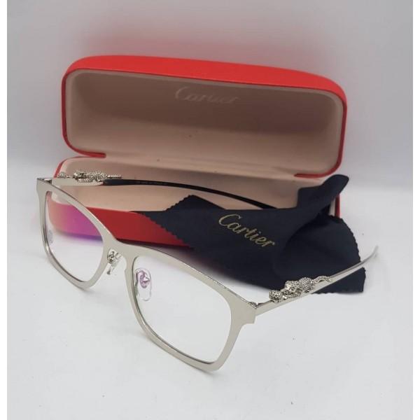 Cartier Silver Rectangle Eyeglasses