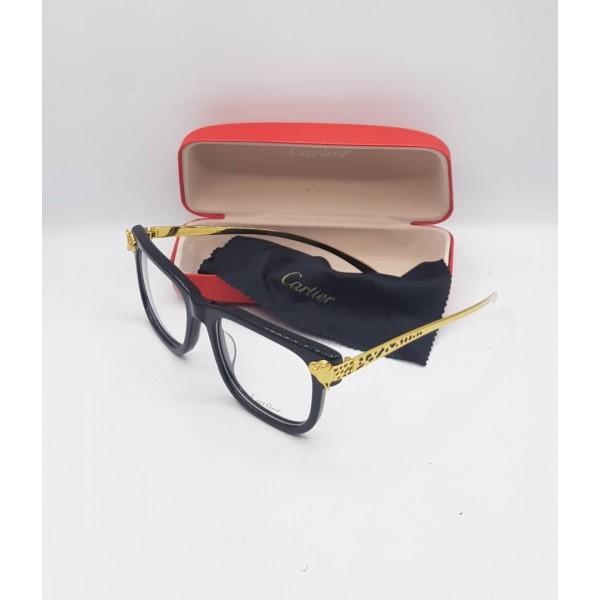 Cartier Black Gold Frame Eyeglasses