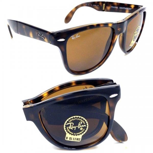 Ray-Ban Foldable Wayfarer Brown Lens Sunglasses
