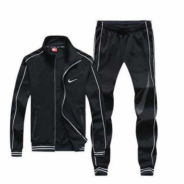 Nike Zip Up Tracksuit | Black White