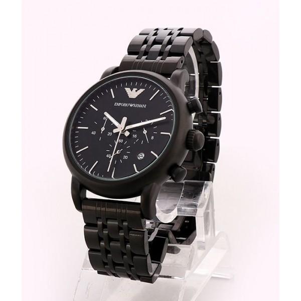 Emporio Armani Black Dial Bracelet Watch | Black