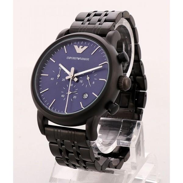 Emporio Armani Blue Dial Bracelet Watch | Black