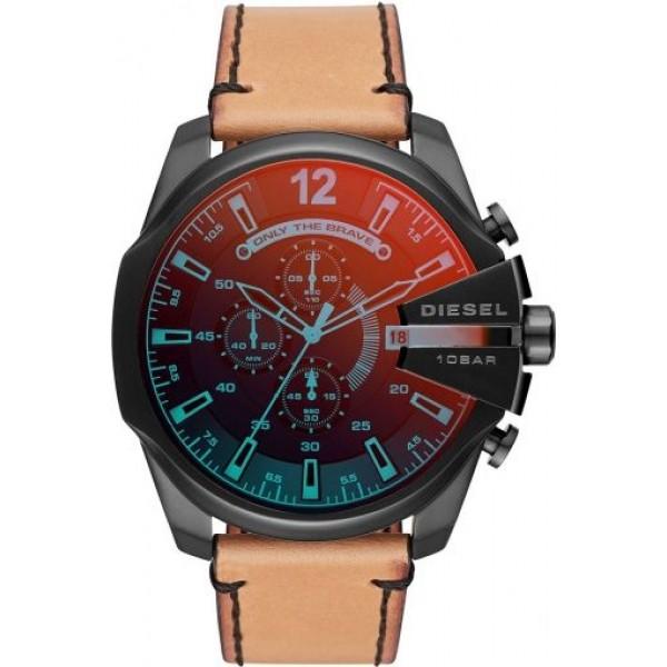 Diesel Mega DZ4476 Men's Watch | Brown Leather