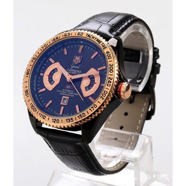 Tag Heuer Croc Leather Watch | Black